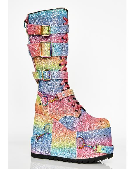 Sparkle Pony Platform Boots