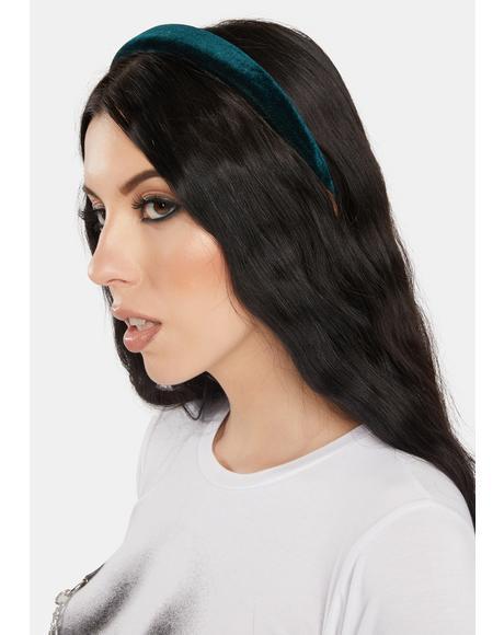 Green Velvet Headband