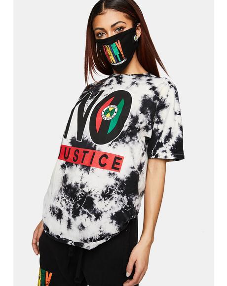 No Justice No Peace Tie Dye T-Shirt