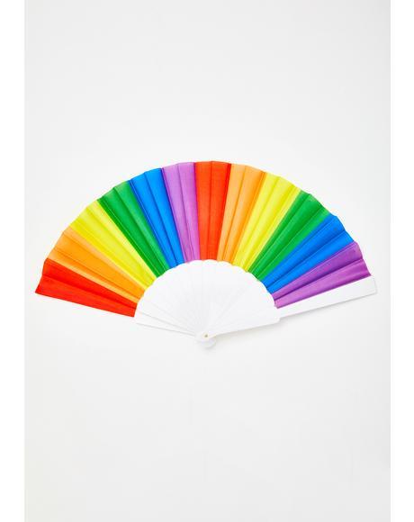 Rainbow Bliss Striped Fan