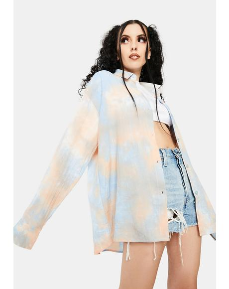 Tie-Dye Shirt Dress