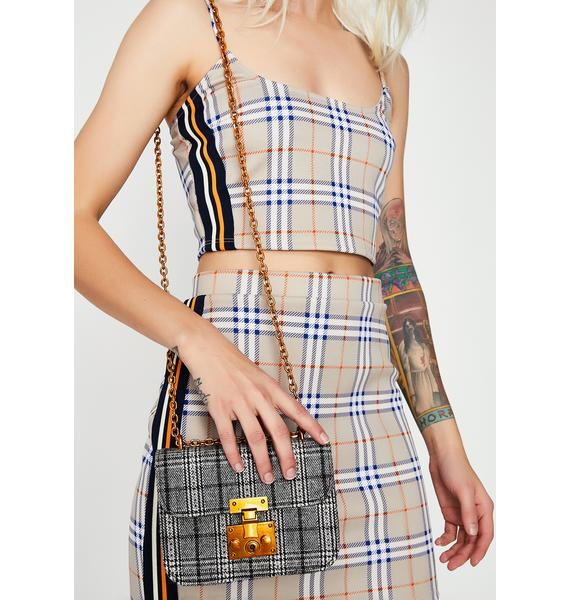 Gettin' Goals Plaid Bag
