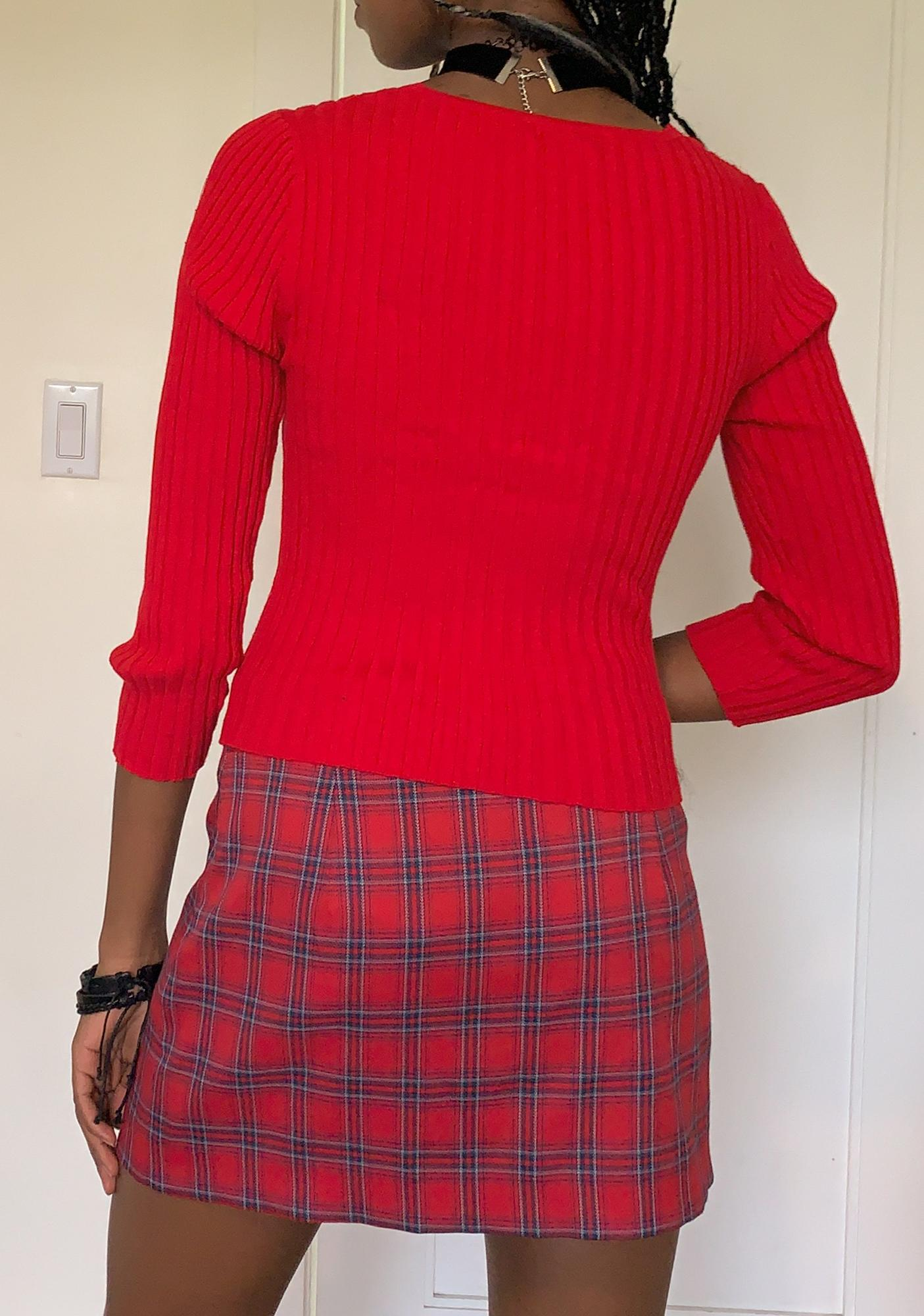 dELiA*s by Dolls Kill Burn I'm An Open Book Ribbed Sweater