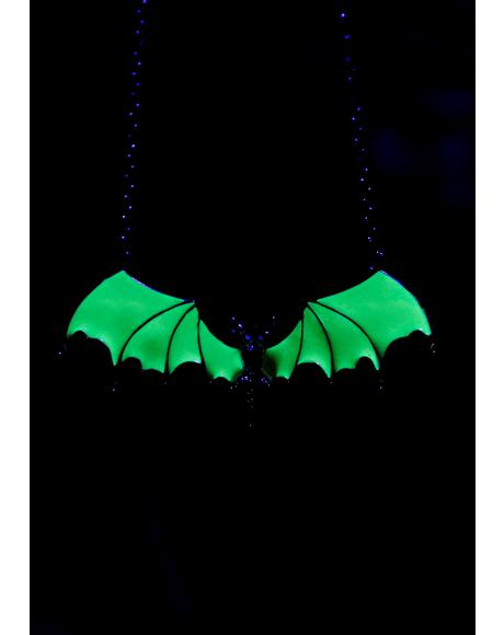 Acid Flight Glow In The Dark Necklace