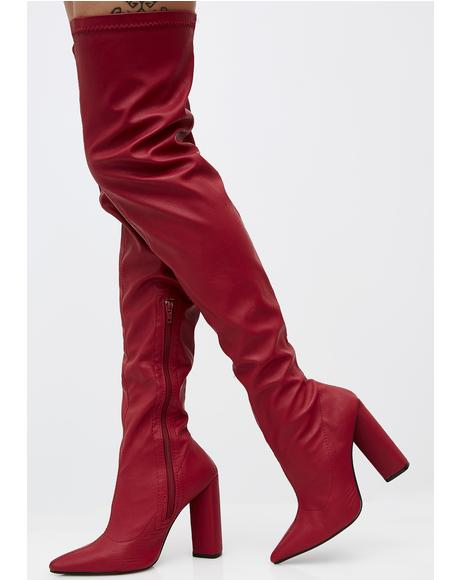 Burnin' Romance Over The Knee Boots