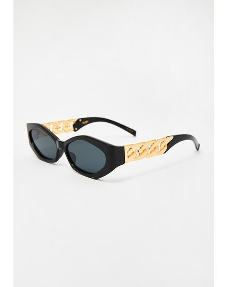 Ruby Gold Chain Sunglasses