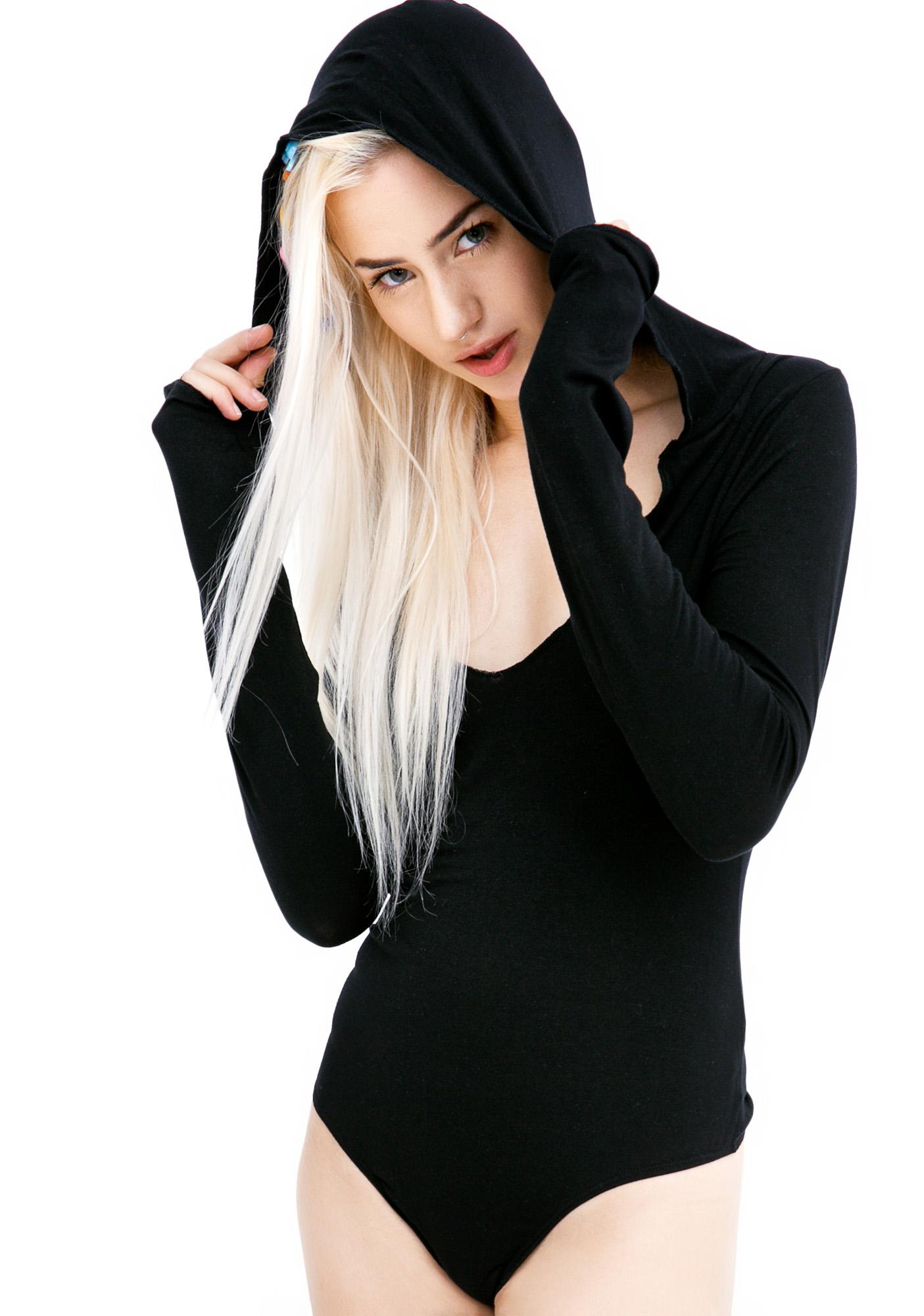 Olympia Theodora Hooded Bodysuit