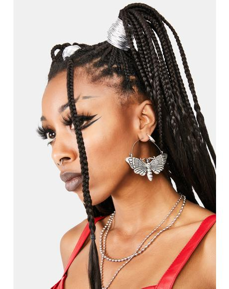 Death Bringer Hoop Earrings