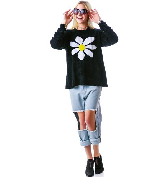 Mink Pink Happy Daisy Knit Sweater