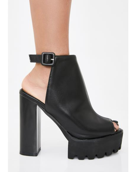 Dark Jada Cleated Platform Booties