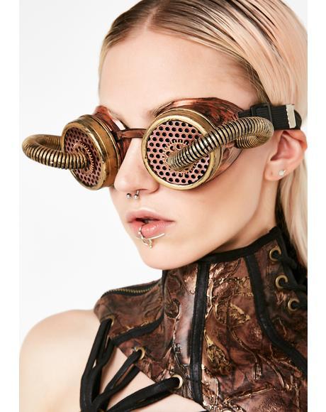 Steampunk'd Goggles