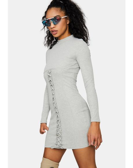 Ride The High Lace-Up Bodycon Dress