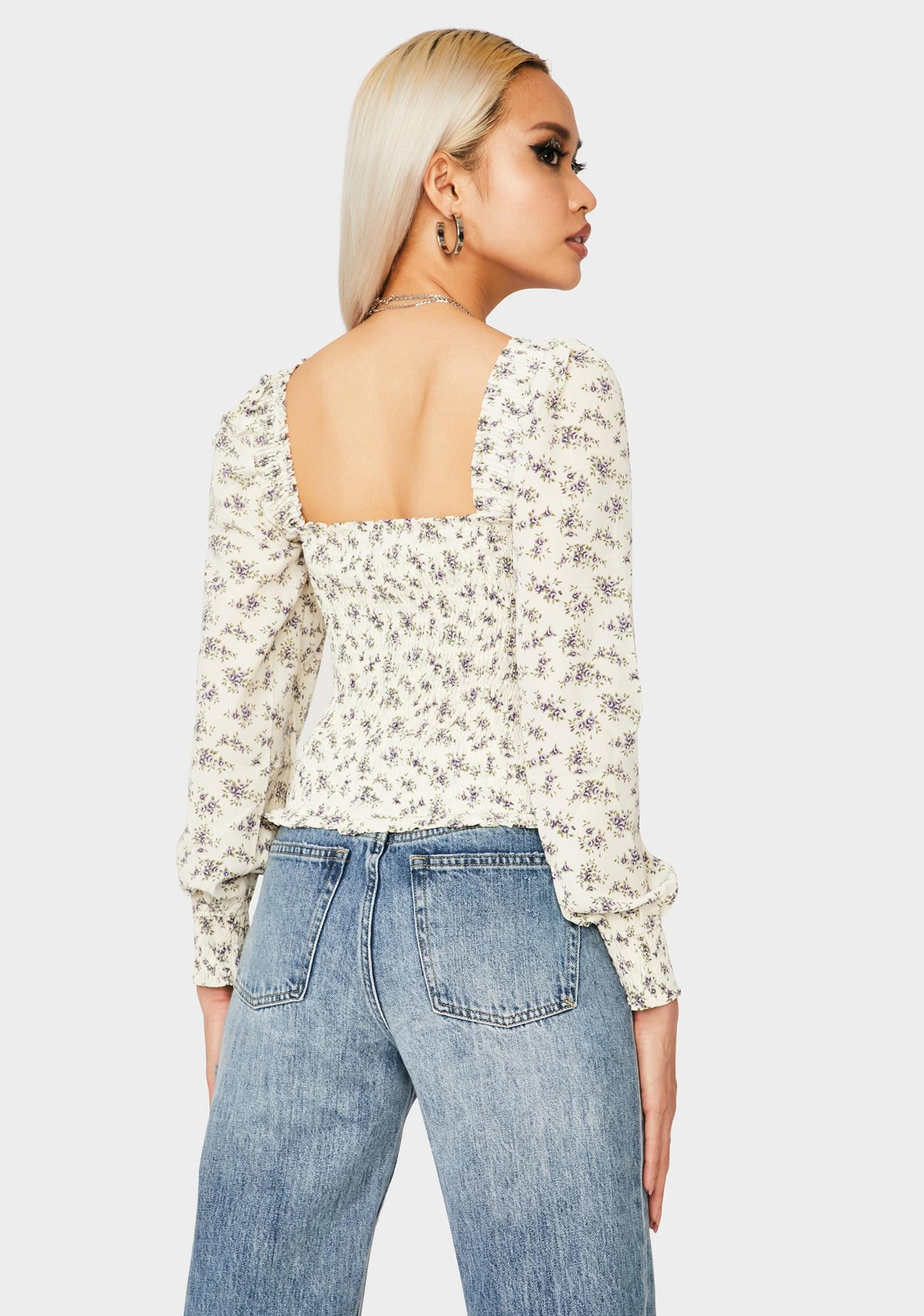 One Summer's Day Floral Top