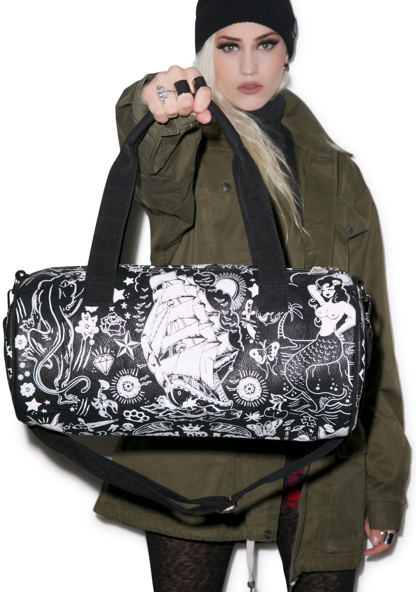 Too Fast Tattoo Buffalo Duffle Bag