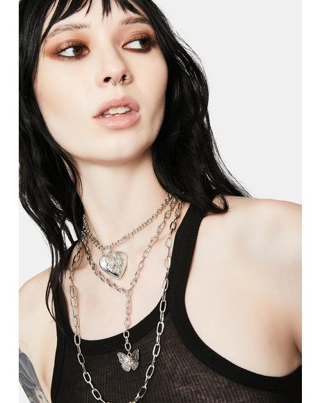 Chrome All Good Layered Chain Necklace
