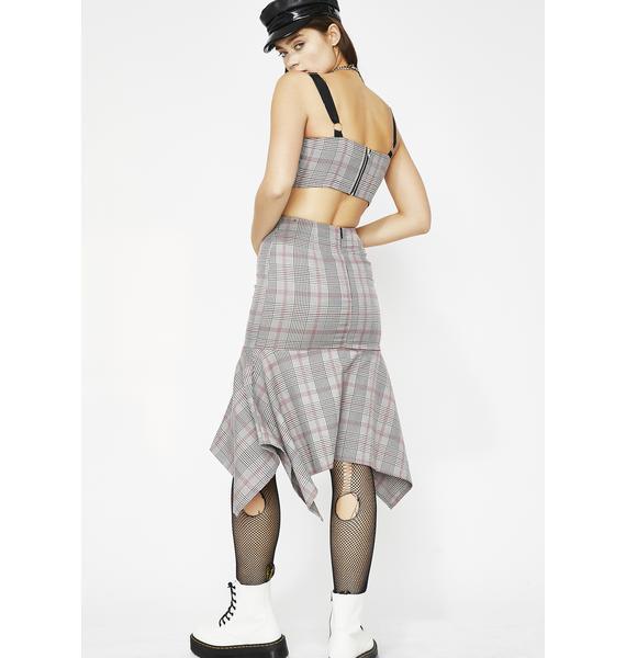 Schoolin' You Plaid Skirt