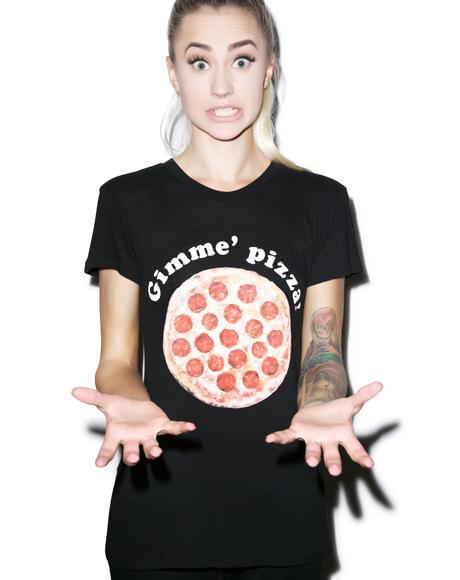 Gimme Pizza Tourist Crewneck Tee