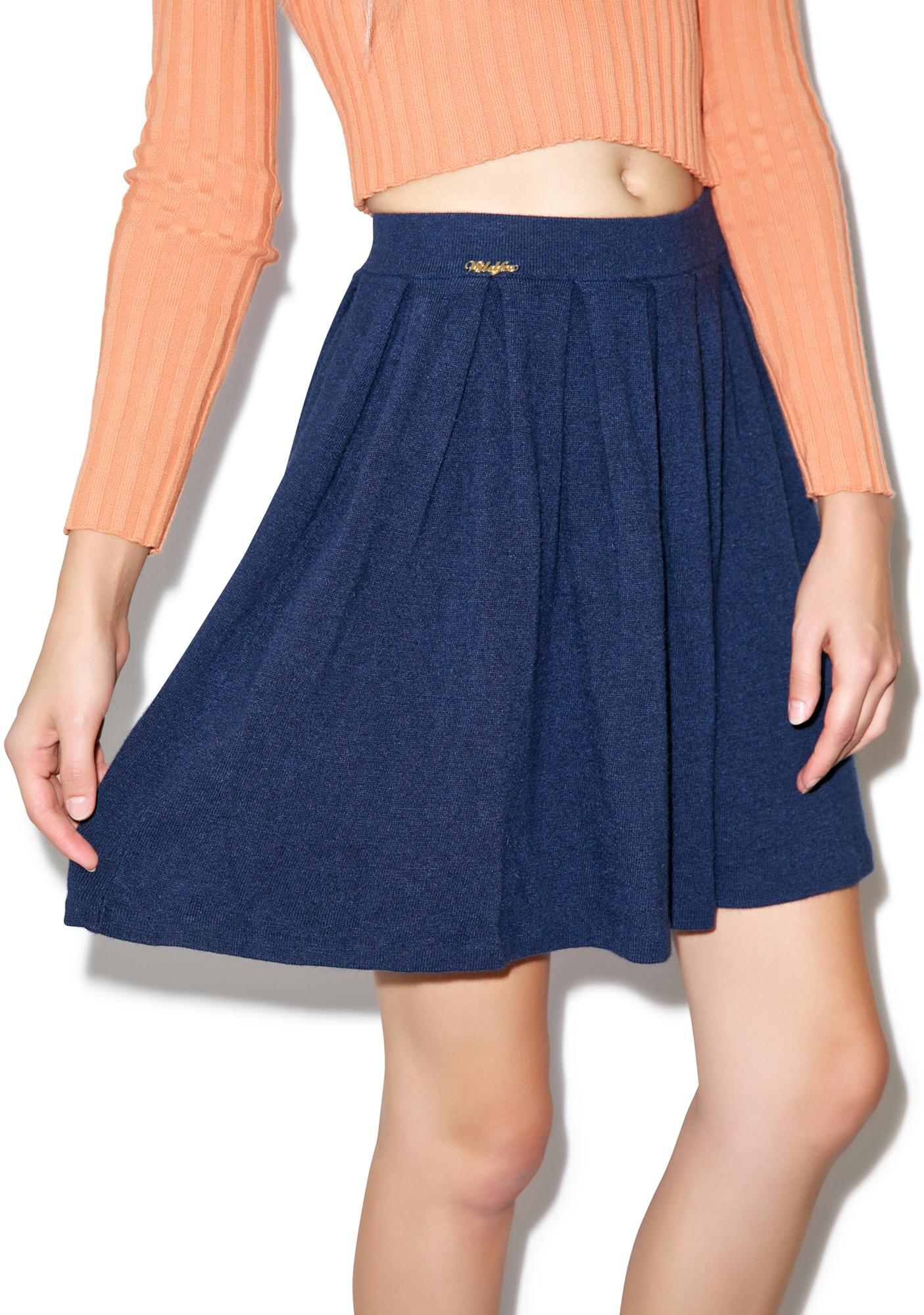 Wildfox Couture Solid Color Pleated Skirt