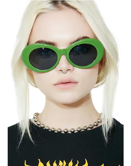 Olive Nevermind Sunglasses