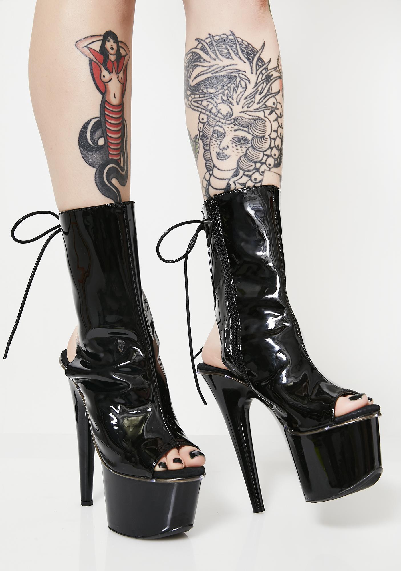 Lit Fetish Platform Heels