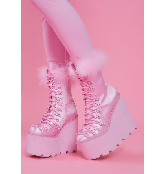 Sugar Thrillz Marabou Traitor Boots