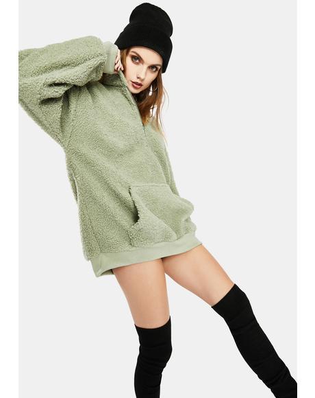 Pistachio Sherpa Pullover