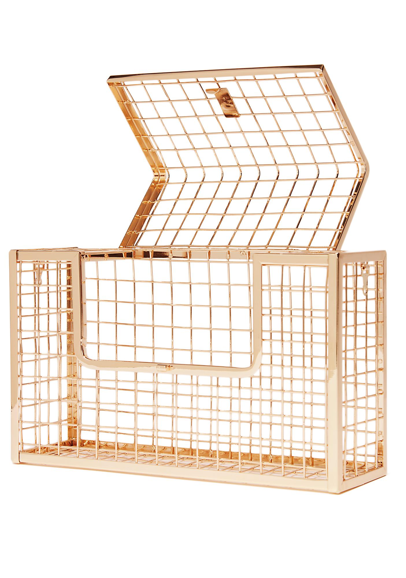 Contain Yourself Metal Cage Clutch