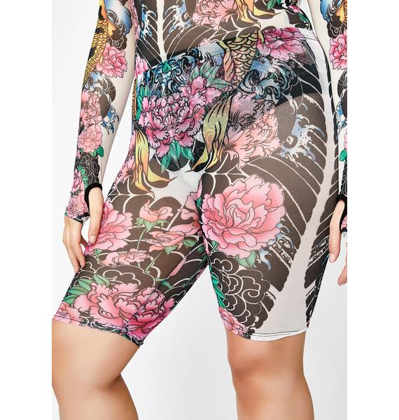 Current Mood Divine Deadly Diva Tattoo Shorts