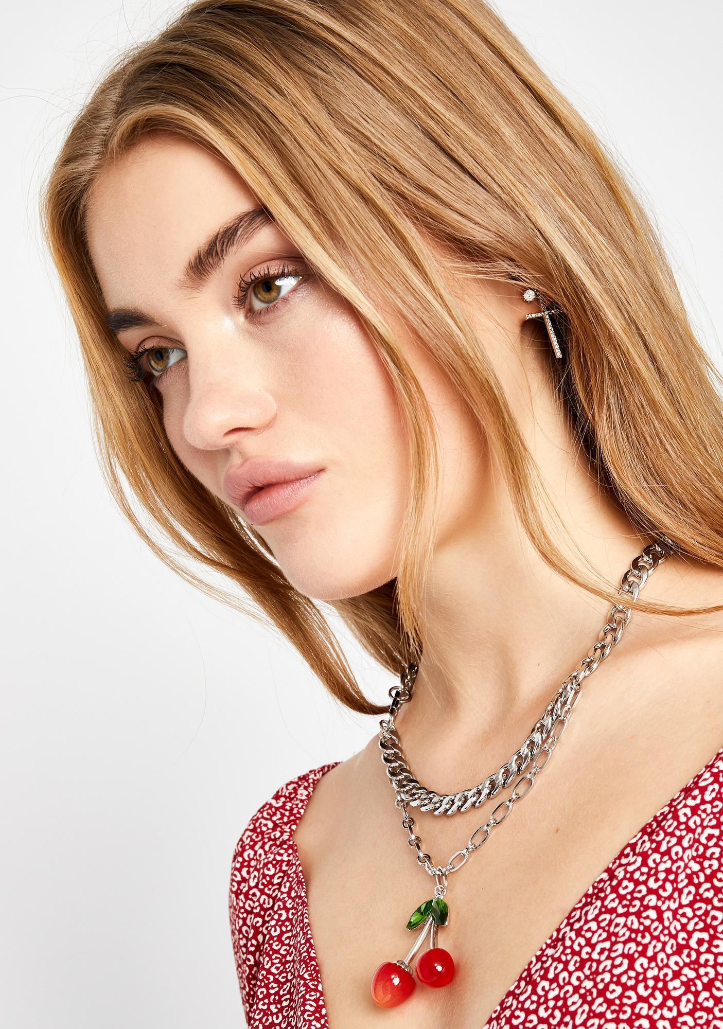 Pop It Baby Cherry Necklace