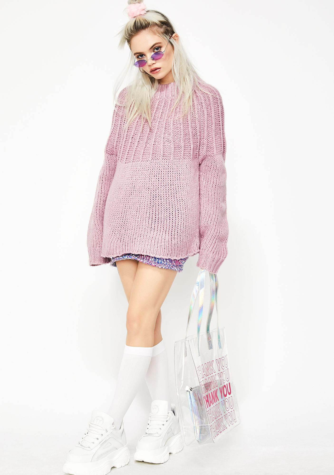 Lilac Dream Desire Tie Back Sweater