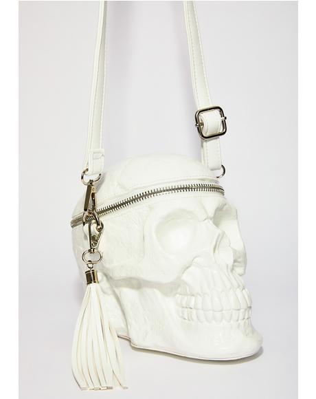 Ghosted Grave Digger Skull Handbag