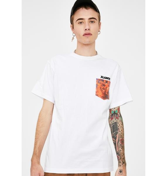 XLARGE White Ingredients Standard Logo Pocket Tee