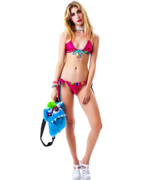 Sea Hearts Tie Bikini