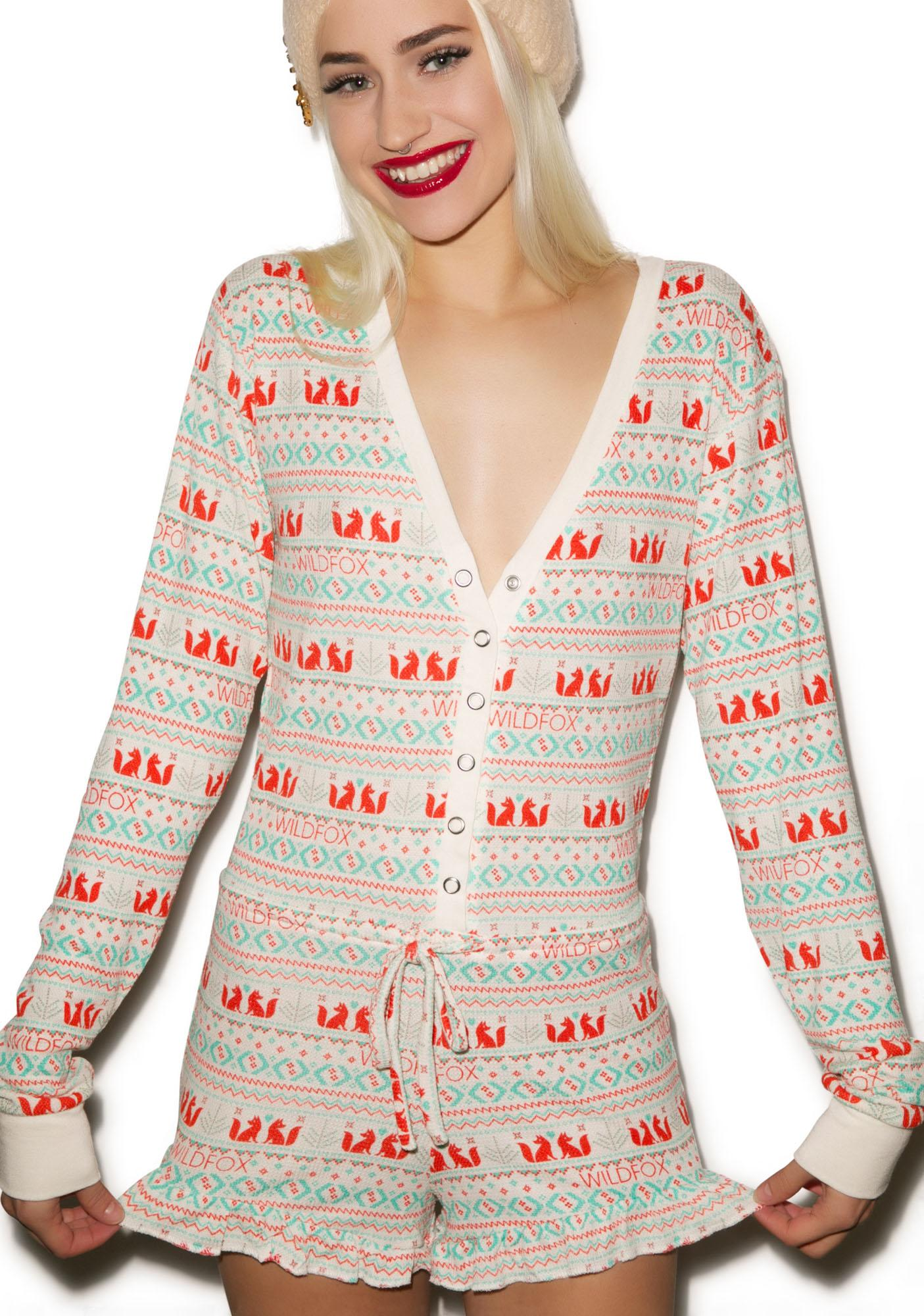 Wildfox Couture Fox Ye Rustic Pajama Romper