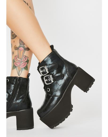 Nosebleed Buckle Boots