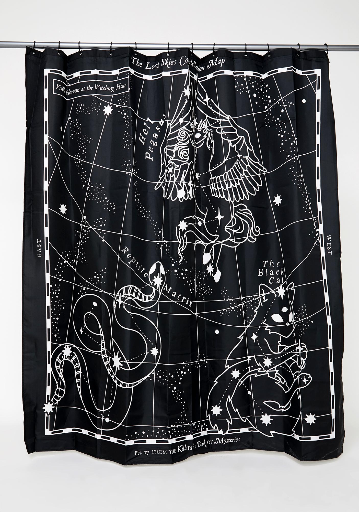 Killstar Lost Skies Shower Curtain