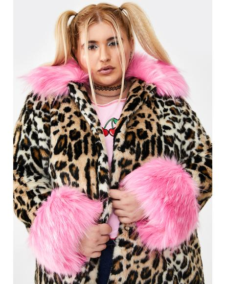 Major Sass Attack Faux Fur Coat
