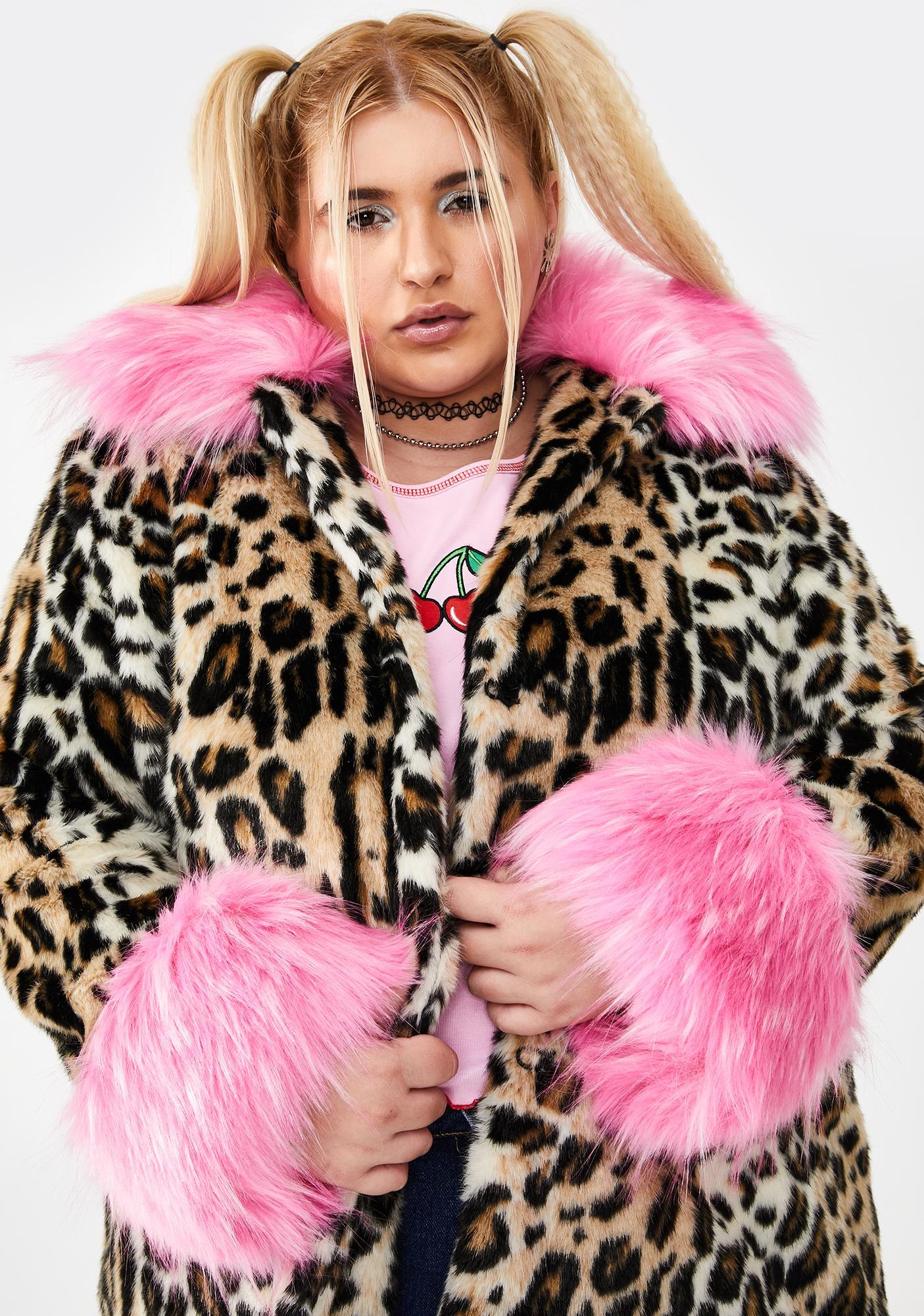 Major Sass Attack Faux Fur Coat