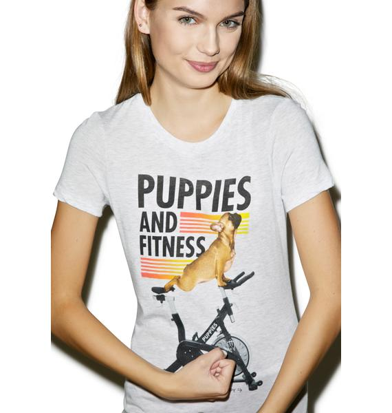 Puppies Make Me Happy Puppies And Fitness Tee