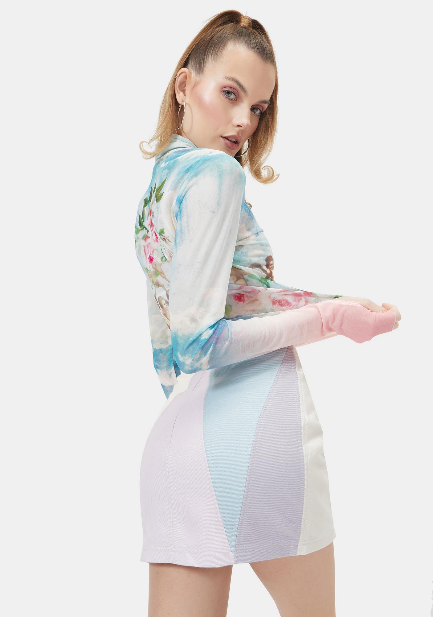 Heavenly Chic Colorblock Mini Skirt
