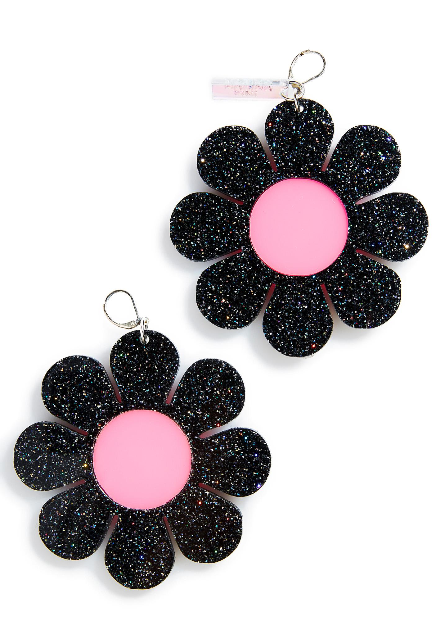 Marina Fini Glitter Flower Power Earrings