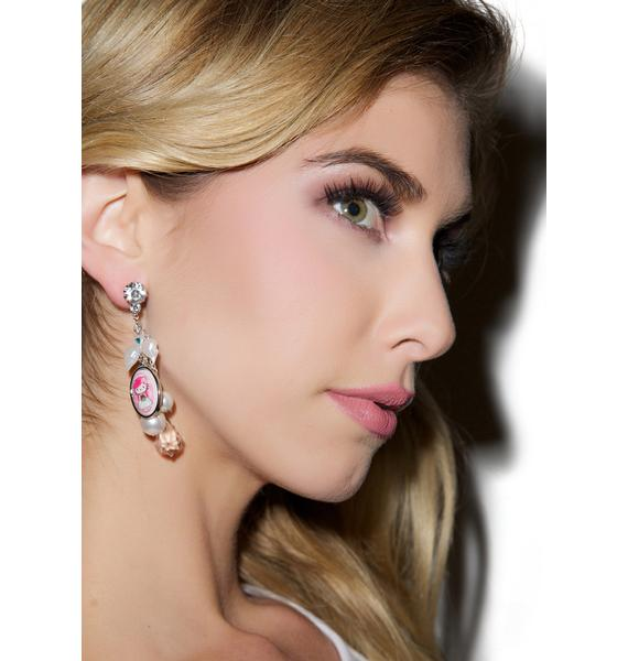 Tarina Tarantino Bridal Chain Drop Earrings