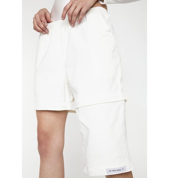 My Mum Made It Zipper Corduroy Casual Pants