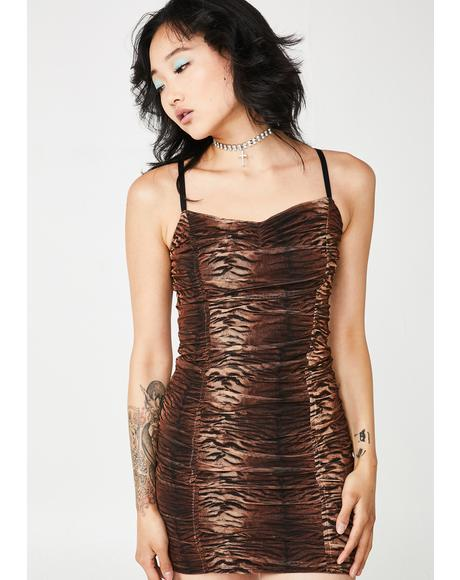 Out Clubbin' Ruched Mini Dress