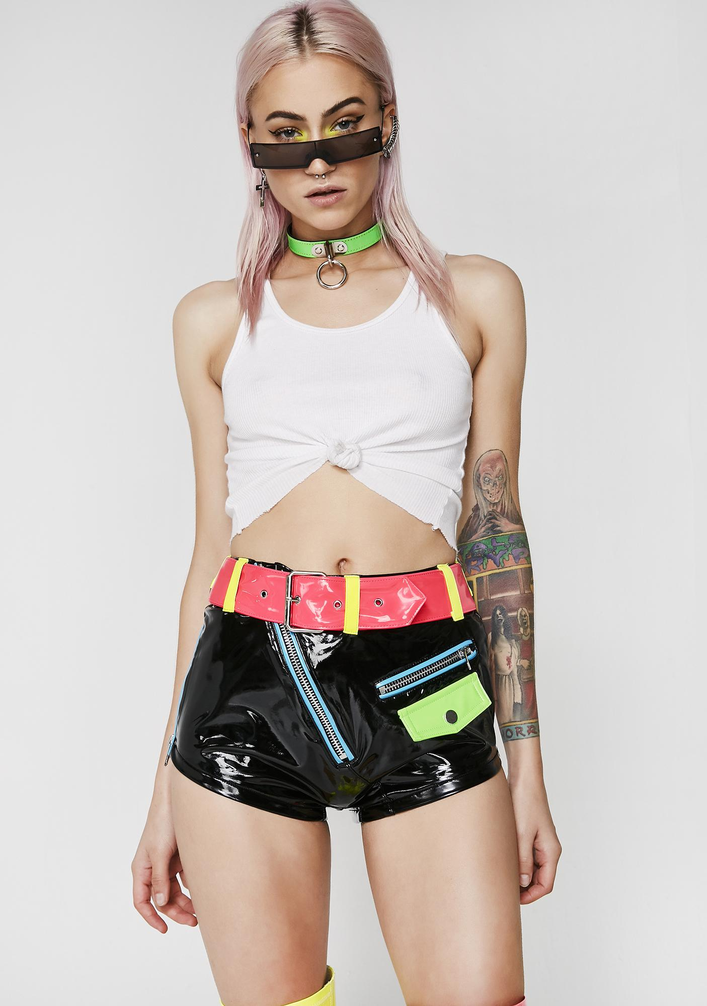Current Mood Ride Or Die Belted Shorts