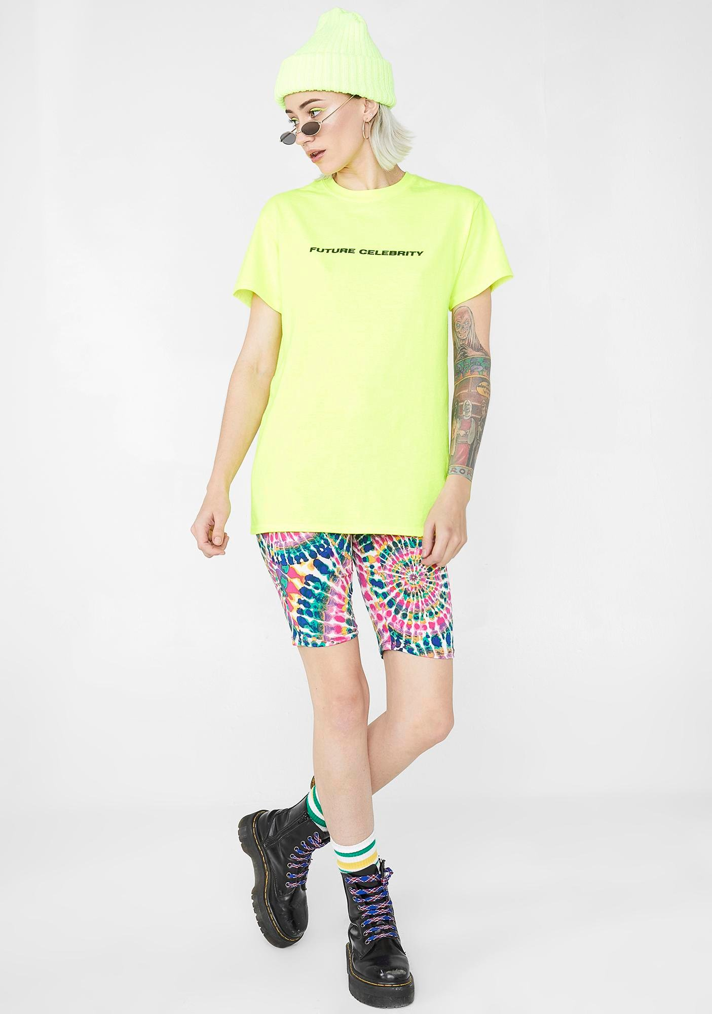 Illustrated People Future Celebrity Neon Tee