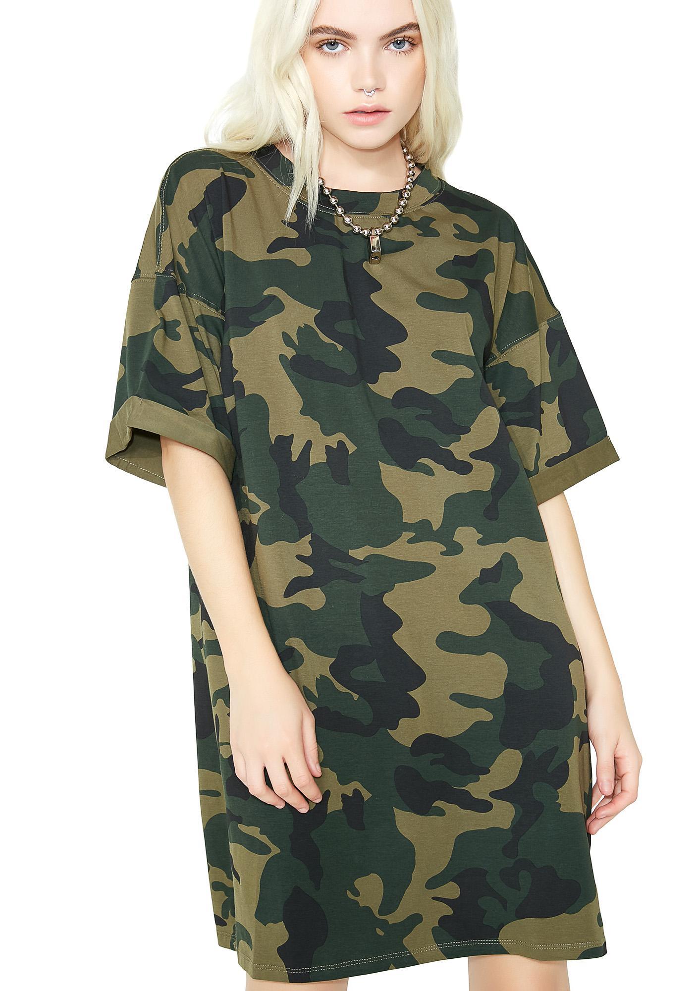 Full Force Camo T-Shirt Dress