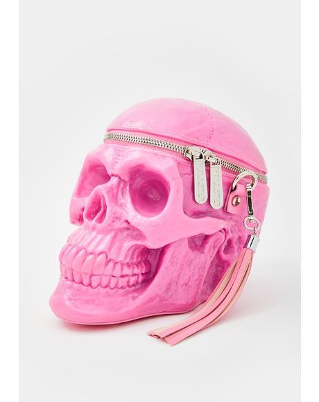 Bubblegum Grave Digger Skull Handbag