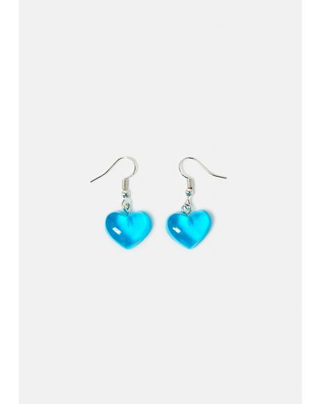 Admit My Feelings Heart Earrings