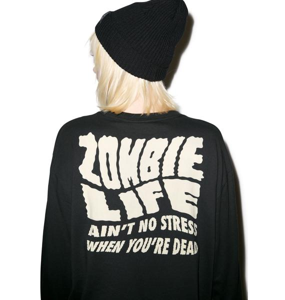 Lazy Oaf Zombie Long Glow In The Dark Tee
